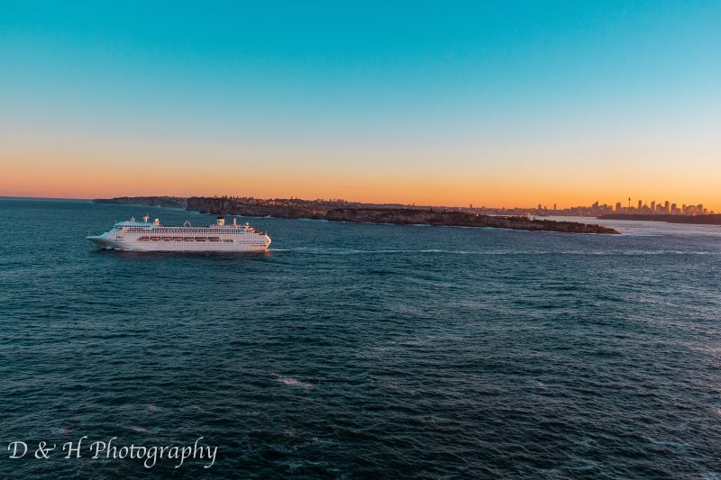 Cruise Ship leaving Sydney Harbour